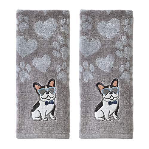 SKL HOME Cool Frenchie Hand Towel Set, Gray