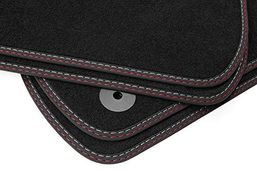 teileplus24 F652-FBA Set SPORTLINE de Tapis de Sol avec Bordure en Caoutchouc et Coutures d/écoratives
