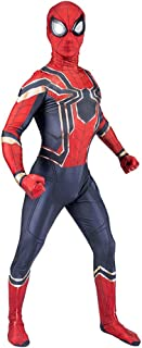 Iron Spiderman Costume Cosplay Halloween Costume Cosplay Suit Homecoming from Infinity War Adult 100% Spandex