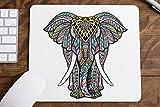 Luckygrafic Alfombrilla ratón Mandala Elefante
