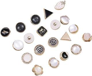PrestyzOOM 20 peças broches de camisa de liga esmaltada broches de lapela broches emblemas para cobrir botões, alfinetes d...