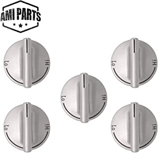 7733P410-60 74007733 Burner Control Knob Replacement Part by AMI PARTS - Compatible with Whirlpool, Maytag Oven,Jenn Air Gas Range Cooktop PS2085277 AP4098017-5 Pack