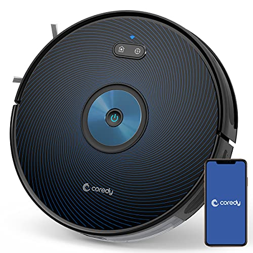 Coredy G850 Robot Vacuum, Smart Navigation, Mopping & Sweeping, 2500Pa Strong Suction, Robotic Vacuum Cleaner, Wi-Fi Connected, Compatible with Alexa, Ideal for Pet Hair, Cleans Hard Floor to Carpet