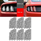 FJJ-DZS, Cola 6pcs Honeycomb PVC posterior del coche de la luz de la etiqueta decorativa pegatinas cubierta decoración en forma for el Ford Mustang 2015 2016 2017