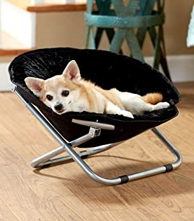 TRM BLACK FOLDING PET DOG CAT BED CHAIR PORTABLE