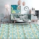 Alfombra de área para sala de estar, dormitorio, degradado moderno, verde claro, geométrico, patrón contemporáneo al aire libre, interior, duradero, utilidad pasillo alfombra 80 x 120 cm