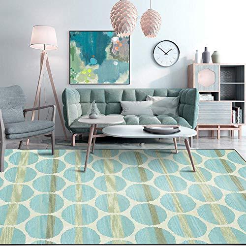 Alfombra de área para sala de estar, dormitorio, degradado moderno, verde claro, geométrico, patrón contemporáneo al aire libre, interior, duradero, utilidad pasillo alfombra 160 x 200 cm