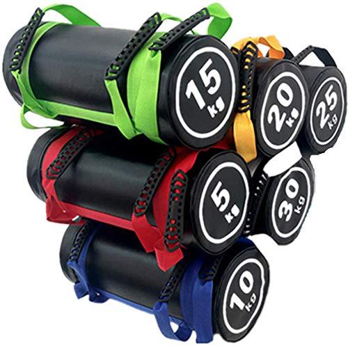 YZBBSH Sac De Sable De Fitness Power Bag Sac Sable Musculation Ajustable Sac Lesté Utilisé pour Fitness, Entraînement, Sacs De Sable D'entraînement Multifonction 5-25kg,Blue 10kg (Empty Leather)