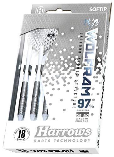 Harrows Fléchettes Wolfram 18GR 97% Tungstene (Plusieurs Styles)...