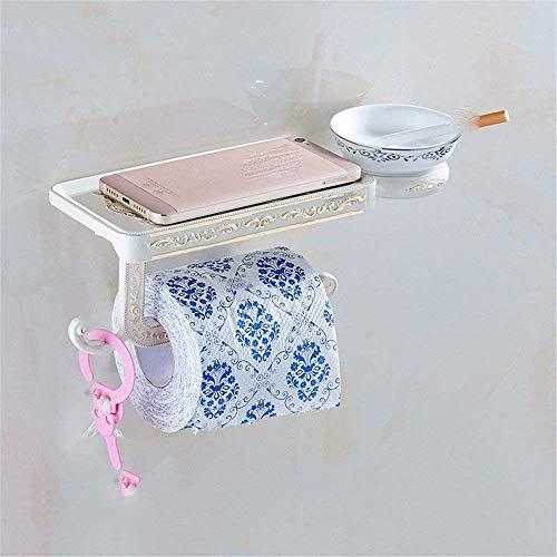 M-J Europäische Toilette Antikes Weißes Elfenbein Papier Stilvolle Einfachheit Handtuchhalter Aschenbecher Toilettenpapier Brieftasche Badezimmerregal Regale Rauchdicht, c, d