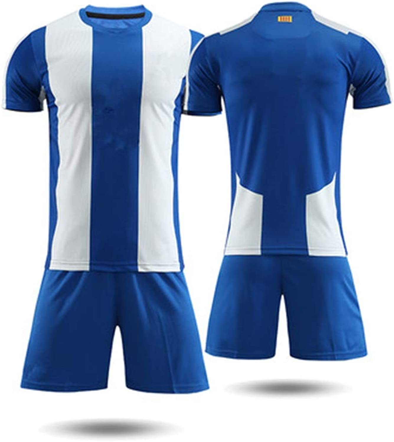 YAXIAO T-Shirt Men's Short-Sleeved Shorts Spain Training Suit Football Clothing Football Clothes T-Shirt (color   A, Size   2XL)