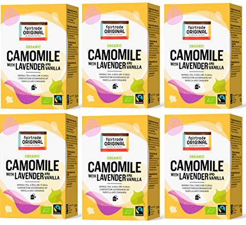 Kräutertee mit Kamille, Lavendel & Vanille| 120 Teebeutel | Fairtrade Original | Set 6 x 20 Beutel = 210 g | 100 % Kräuter Tee im Beutel | Bio und Fair Trade