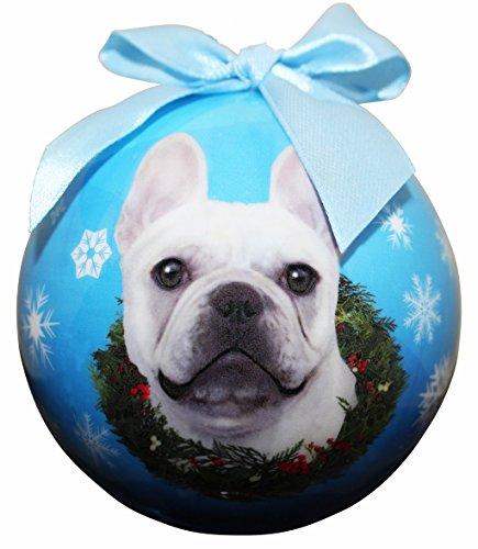 'French Bulldog White Christmas Ornament' Shatter Proof Ball