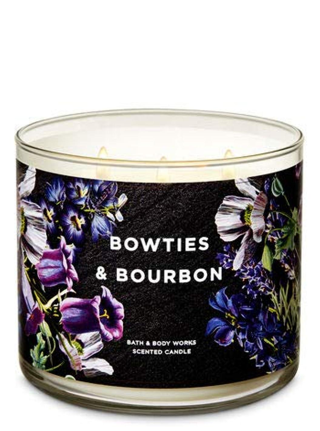 従事する強います食用【Bath&Body Works/バス&ボディワークス】 アロマキャンドル ボウタイ&バーボン 3-Wick Scented Candle Bowties & Bourbon 14.5oz/411g [並行輸入品]