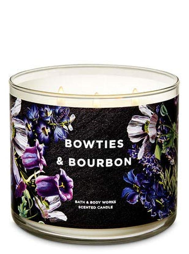 マンハッタン困惑した無能【Bath&Body Works/バス&ボディワークス】 アロマキャンドル ボウタイ&バーボン 3-Wick Scented Candle Bowties & Bourbon 14.5oz/411g [並行輸入品]