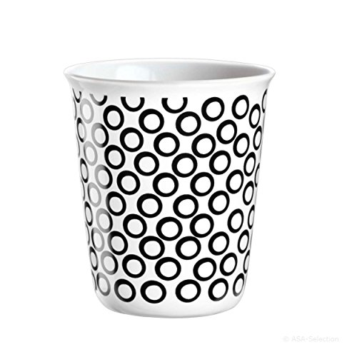 ASA coppetta Tasse expresso, Tasse à Café, Tasse, Céramique, Circles, noir/blanc, 100 ml, 44008214