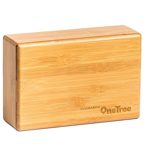 avamanda OneTree Bambus-Yogablock Meditationsblock aus 100{c0a7f2f6589476ff7475df8231a1d4220ca6fdded24fbc9634f1ee32d4bbd80a} Bambus-Holz (Yogaklotz)