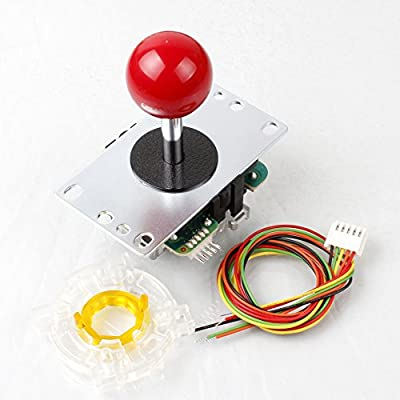 Samwa Red Ball-Top JLF-TP-8YT Stick + Sanwa GT-Y Octagonal Gate For Arcade Joystick Games Mame Jamma