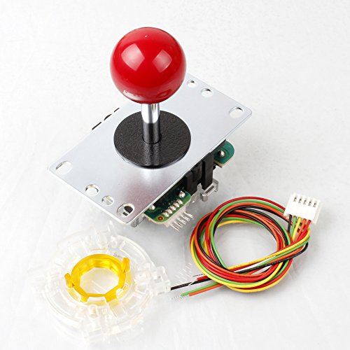 Samwa rote Kugel-Top JLF-TP-8YT Stick + Sanwa GT-Y Achteckig Tor Für Arcade Joystick Spiele Mame Jamma