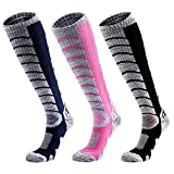Ski Socks Women Men, 3 Pair Extra Thick Warm Snow Winter Skiing...