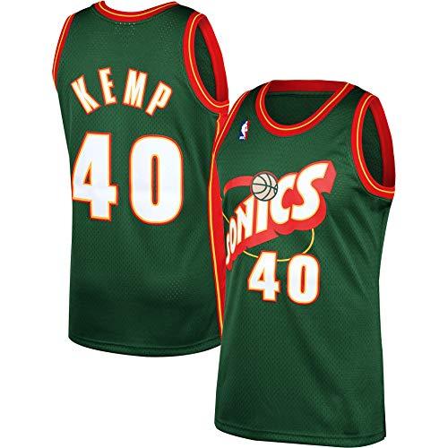 Shawn Kemp Seattle Supersonics #40 Green Red Youth 8-20 Soul Hardwood Classic Swingman Jersey (18-20)