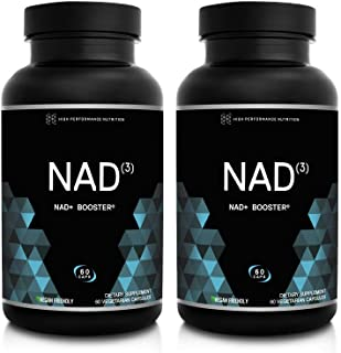 HPN NAD+ Booster - Nicotinamide Riboside Alternative (NAD3) Anti Aging NRF2 Activator, Superior to NADH - Natural Energy Supplement for Longevity & Cellular Health, 60 Caps, 2-Pack