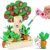 LETOMY Juego Infantil Magnetico 3 en 1, Juguetes Montessori Educativo, Rompecabezas Juegos de Madera...