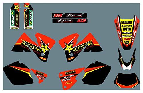 Yhfhaoop DST0392 Calcomanías de Motocicleta 3M Personalizadas Pegatinas Gráficos Gráficos Kit de decancia gráfica para KTM ECC 2001-2002