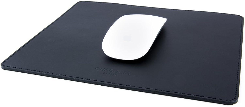 QUADOCTA Maus-Pad aus Echt-Leder - Mouse-Pad mit rutschfester Unterseite in Schwarz aus feinstem Rindsleder B0711XM2MH   | Große Ausverkauf