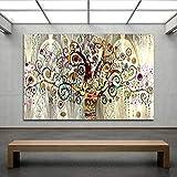 DERFV Árbol de la Vida Pintura Decorativa Arte Abstracto Dormitorio Pintura Realismo Arte Pintura en Lienzo