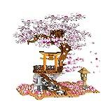 Bybo Sakura Baum Bausteine Bausatz mit Minifiguren und Beleuchtung 1167 Stück Custom...