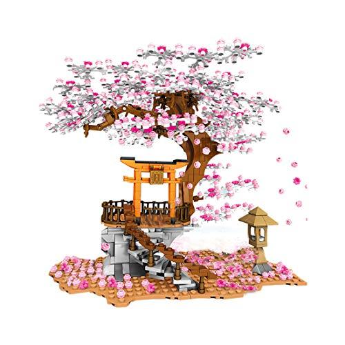 PARIO 1167Pcs Sakura Albero con Base Fiore di Ciliegio Moc Set di Costruzioni Custom Paesaggio Set für Minifigures con Kit Luce LED, Compatibile con Lego