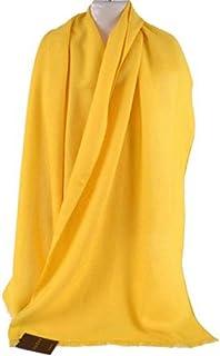 Gucci Scarf Yellow Silk and Wool Blend Designer Shawl 165904