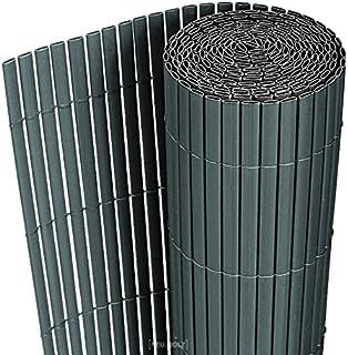 [neu.haus] Estera de PVC (90x300cm) (gris) protector contra el viento - pantalla de privacidad, para jardín, balcón y terraza