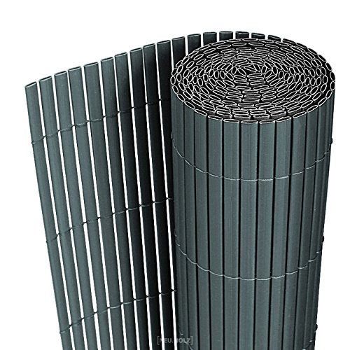 [neu.haus] PVC Sichtschutzmatte 150x300cm grau Sichtschutz Windschutz Gartenzaun Balkon Umspannung Zaun