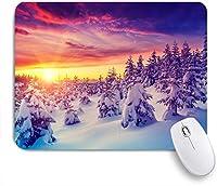 ECOMAOMI 可愛いマウスパッド 日光に輝く幻想的な夜の風景 滑り止めゴムバッキングマウスパッドノートブックコンピュータマウスマット