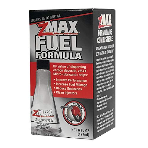 zMAX 51-106 Fuel Formula - Easy to Use - Engine Treatment Reduces Carbon Build-Up & Lubricates Metal Extending Life of Car or Truck - Runs Efficiently, Improving Gas or Diesel Mileage - 6 oz. Single