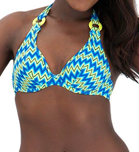 Curvy Kate Shockwave Bikini Halter Top de la mujer - Multi -
