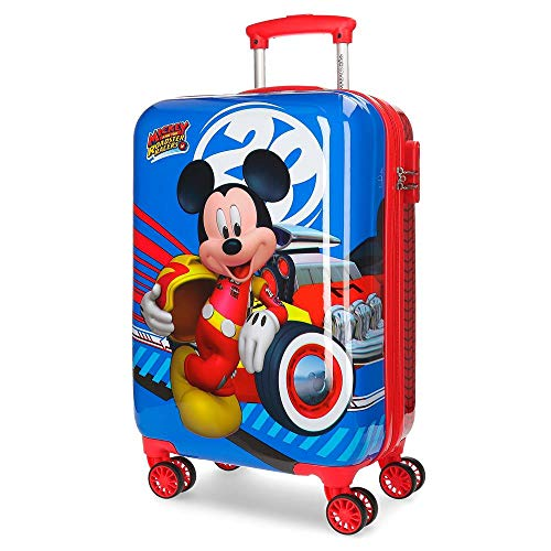 Disney World Mickey Maleta de cabina Multicolor 34x55x20 cms Rígida ABS Cierre...