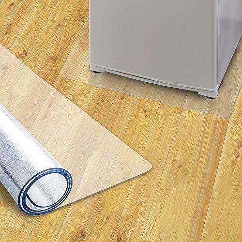 kubo 冷蔵庫 マット キズ防止 凹み防止 床保護マット 53×62cm 〜 200Lクラス 透明 チェアマット PVC 厚み2mm クリアマット 静音 滑り止め 洗濯機 オフィス フロアマット 保護シート 国内正規2年保証 (s)