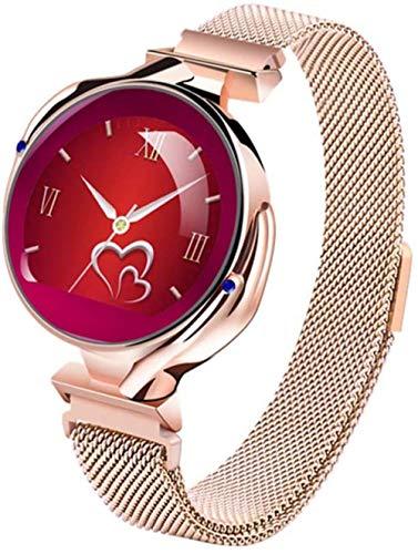 2021 - Reloj inteligente para mujer, monitor de ritmo cardíaco, presión arterial, reloj inteligente, pulsera de actividad física y sueño, reloj deportivo, color dorado