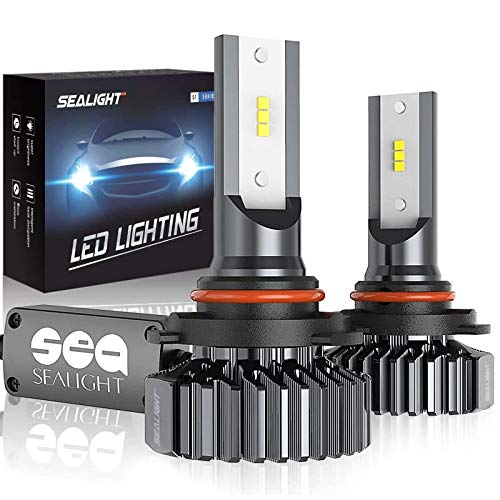SEALIGHT Scoparc 9005/HB3 LED Headlight Bulbs 12000LM Conversion Kit Plug and Play, High Beam/Fog Light, 6000K Bright White, Halogen Replacement, Quick Installation