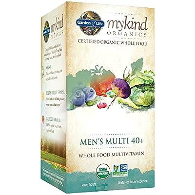 Garden of Life Multivitamin for Men - mykind Organic Men's 40+ Whole Food Vitamin Supplement, Vegan, 120 Tablets
