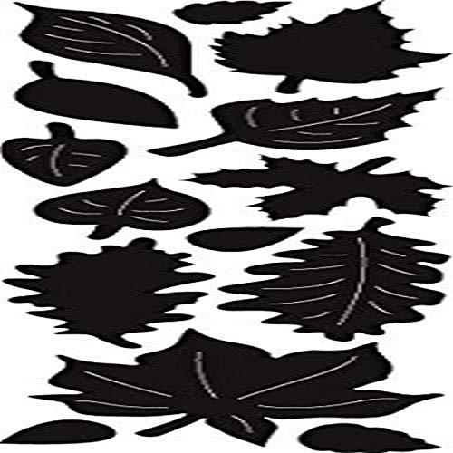 Marianne Design Craftables Locherschablone Herbst Blätter - Stanzschablone und Prägeschablone für die Kartengestaltung und Scrapbooking, Metal, grau, 15 x 9.6 x 0.2 cm