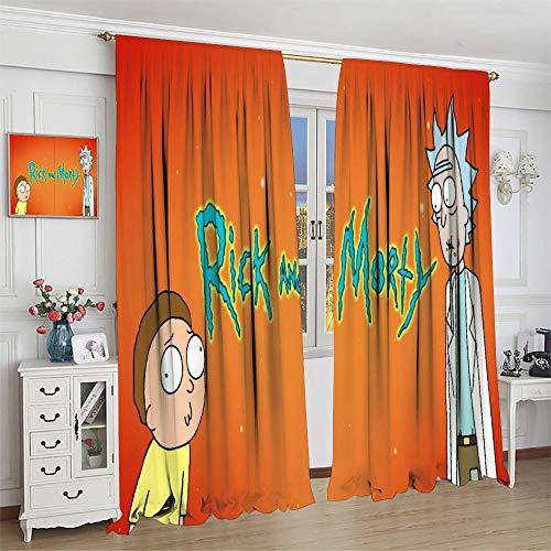 FOCLKEDS Cortinas de habitación Rick And Morty para ventana, súper suave, cortina para dormitorio infantil, 132 x 213 cm