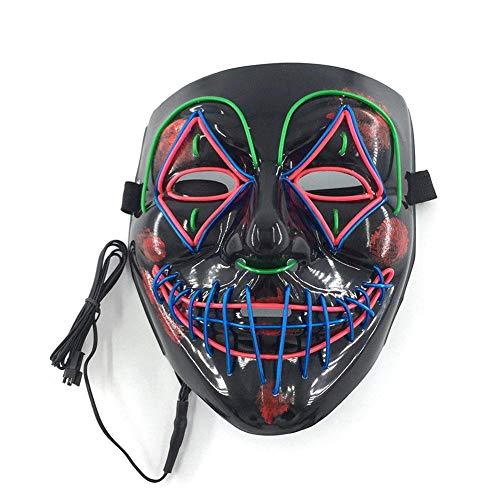 RAP Draht-Maske blinkend Cosplay LED leuchtende Maske Kostüm Anonyme Maske für leuchtende Tanzmasken Halloween Dekoration a