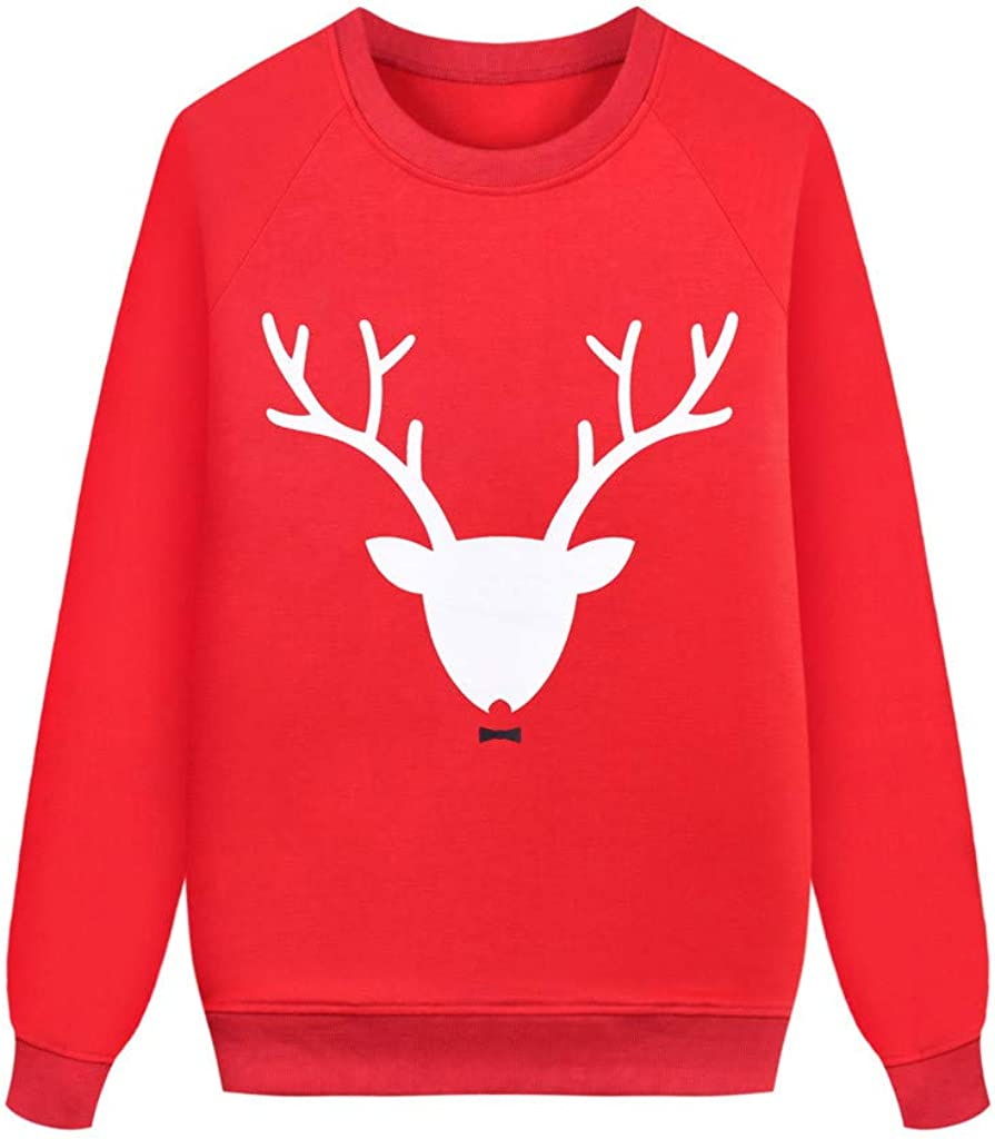 Christmas Parent-Child Dad Mom Outfit Men, Women & Baby Deer Sweatshirt Tops Family Pullover
