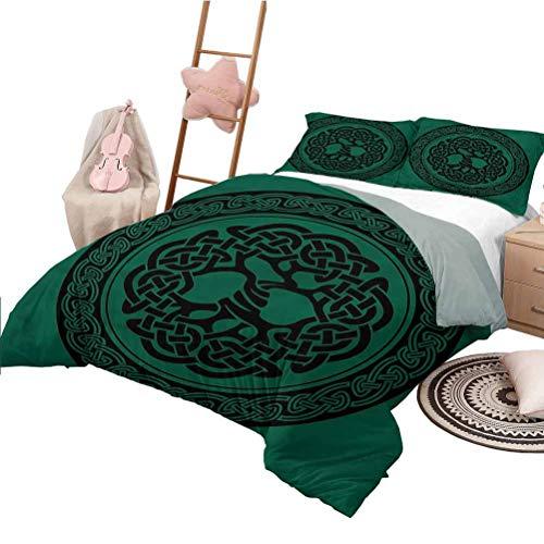Nomorer Bedding Sets King Size Celtic Duvet Cover Set Tree of Life Pattern