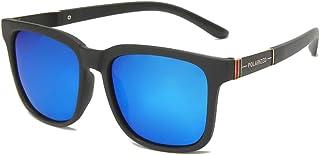 FJCY - Gafas de Sol polarizadas cuadradas retráctiles de conducción Gafas de Sol cuadradas de Goma para Hombres Gafas de Sol polarizadas para Hombres y mujeres-Kmj807-C4