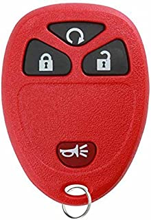 KeylessOption Keyless Entry Remote Control Car Key Fob Replacement For 15913421 -Red